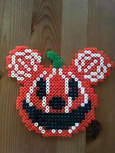 Halloween pumpkin mouse perler beads by Nana Y. -Perler® | Gallery