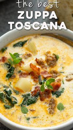 Chowder Recipes, Soup Recipes, Cooking Recipes, Healthy Recipes, Toscana Recipe, Zuppa Toscana, Homemade Soup, Chilis, Chowders