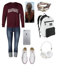 """""""Back to School😖"""" by radickerson85 on Polyvore featuring Converse, adidas Originals and Frends"""
