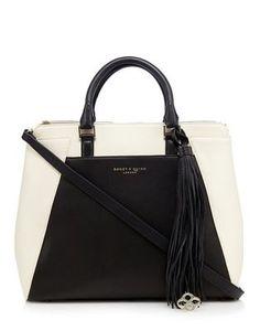 Bailey & Quinn Black colour block tote bag | Debenhams
