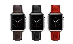 Groupon - Waloo Apple Watch Crocodile Print Leather Replacement Band. Groupon deal price: $15.99