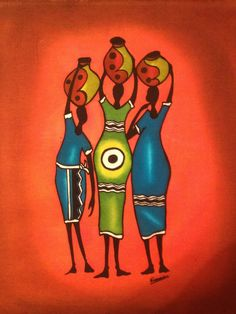 South African Art. Brought this beautiful batik art back from South Africa in 2007.