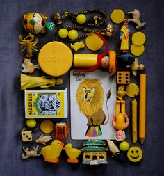 yellow dolls + toys by bricolagelife, via Flickr