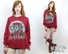 #Vintage #80s ANGRY ELEPHANT Alabama Crimson Tide Sweatshirt, fits S/M/L by #shopEBV http://etsy.me/1IG14Os via @Etsy #rolltide #crimsontide