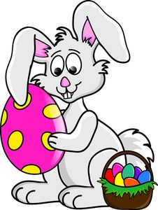 April bunny. Best rabbit clipart