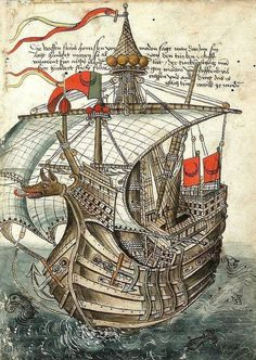 Beautifully detailed painting of a late medieval ship on the way to Jerusalem by Konrad von Grünenberg, 1487. pic.twitter.com/oBRkwPBFth