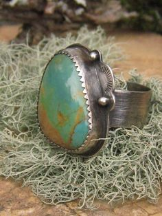 Kingman Turquoise and Sterling Ring