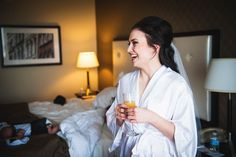 A beautiful bride getting ready for her wedding at Atlantica Hotel Halifax, July 2014.