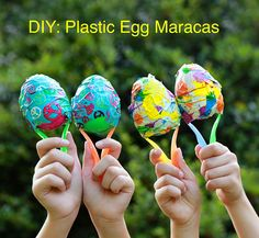 Ramblings From Utopia: DIY: Plastic Egg Maracas. for the music classroom! Easter Crafts For Kids, Diy For Kids, Kid Crafts, Tape Crafts, Kids Fun, Easter Ideas, Egg Game, Cultural Crafts, Balloon Cake