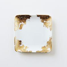 Oh Leander. Gold Leaf Catchall Dish (Square).