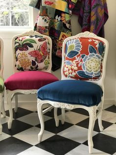 Colorful Chairs for an All-White Kitchen