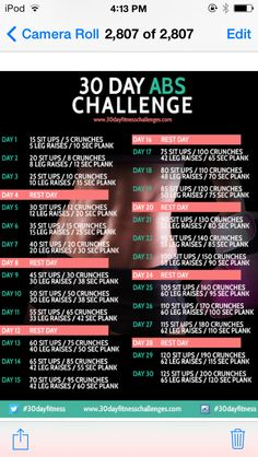 Try this 30 day abbs challenge it's great