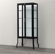 Pharmacy Bath Tall Cabinet Black