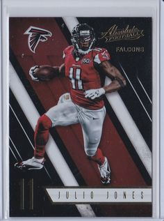 2016 Absolute Football Julio Jones Atlanta Falcons Sports Card No. 63 #AtlantaFalcons