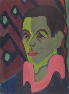 Kirchner. Autorretrato 1925-26, Oil on canvas.  El Puente.