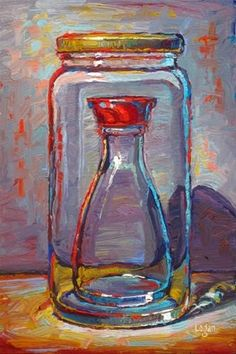 """Daily Paintworks - """"Soy Sauce in a Jar"""" - Original Fine Art for Sale - © Raymond Logan"""