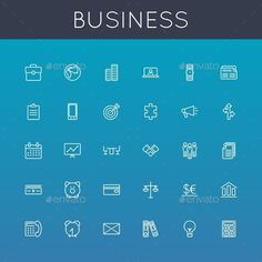 Vector Business Line Icons