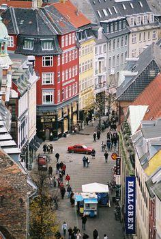 Strøget, Copenhagen, Denmark (pedestrian shopping street in central Copenhagen)