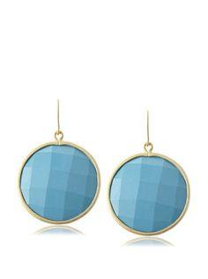 80% OFF Belargo Blue Large Disk Earrings