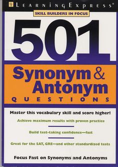 501 Synonyms and Antonym Questions is designed to help students prepare for the verbal sections of most assessment and entrance exams.  :::::::: FOR LEARNERS AND PARENTS:  Free study guides, downloads, video tutorials, online classes and tests and more at www.Examville.com  ::::::::  FOR EDUCATORS AND TEACHERS: use simple online teaching tools to host your own classes online (supplement your income) or sell your documents like lessons plans, study guides and more at www.Examville.com (the…