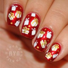 RockYourNails Christmas Present Nails