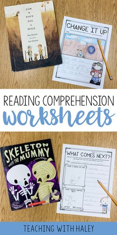 These Reading Comprehension Worksheets are a perfect way for your students to practice reading comprehension with their favorite fiction books! Because they are differentiated, you can easily choose what level works for best for each student. | literacy center ideas, fiction comprehension, 1st grade reading comprehension, comprehension minilessons, 2nd grade reading strategies
