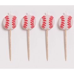 Baseball Candles, Molded Pick Sets - 4/Pkg. $3.55 (save $0.45)