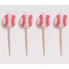 Baseball Candles, Molded Pick Sets - 4/Pkg. $3.55 (save $0.45)