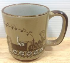 Vintage Circus Animals Coffee Mug Musical Train Mid Century Lion Frog Owl Monkey | eBay
