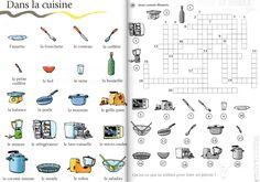 Mots croisés de la cuisine - A1 (le français avec des jeux - S. Tibert)