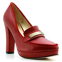 Ali Red Box Leather Heel