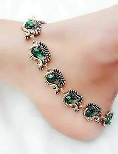 Silver jewelry Design Beautiful - - Silver jewelry Necklace Long - Silver jewelry Hand Made Ideas Payal Designs Silver, Silver Anklets Designs, Anklet Designs, Silver Payal, Silver Jewellery Indian, Silver Jewelry, Silver Ring, 925 Silver, Silver Earrings
