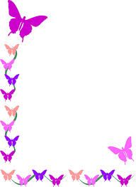 colorfull butterfly corner border design