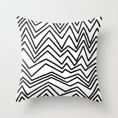 Graphic_Chevron freehand Throw Pillow by Anna Rosa