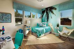 #Girlsbedroom #Tropical #SanDiego Girls Bedroom, Furniture, House, Alcove, Home, Loft Bed, New Homes, Bed, Bedroom