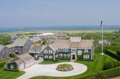 Tommy Hilfiger's Nantucket home with turquoise shutters