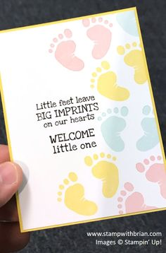 First Steps, Stampin' Up! Baby Boy Cards Handmade, Baby Girl Cards, New Baby Cards, Baby Shower Card Sayings, Baby Birthday Card, Housewarming Card, Baby Scrapbook, Pregnancy Scrapbook, Step Cards