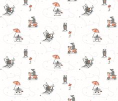 Badger Summer fabric by badger
