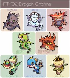 HTTYD2 Dragon Charms by 77chen
