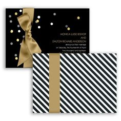 Sparkling Confetti Foil #WeddingInvitation from Invitations By David's Bridal #davidsbridal #wedding