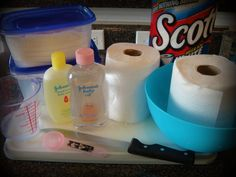 Save money and make your own baby wipes at home with this recipe!