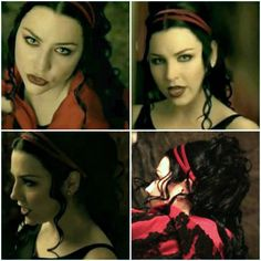 (Amy Lee - Evanescence - screen shots from the 'Call Me When You're Sober' video)