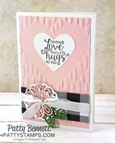 107 best cards su ribbon of courage images on pinterest in 2018 ribbon of courage note card sending love and hugs featuring sweetheart embossing folder from stampin m4hsunfo