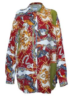 Vintage 90s MOSCHINO Hip Hip Goose Print Shirt via May The Circle Remain Unbroken. Click on the image to see more!