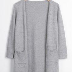 Cupshe Rare London Grey Sweater Cardigan