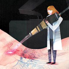 """Tattoo Removal"" - Illustration by Dola Sun Tattoo Eraser, No Regrets Tattoo, Sun Illustration, Small Butterfly Tattoo, Laser Tattoo, Body Adornment, Tattoo Removal, Body Modifications, Get A Tattoo"