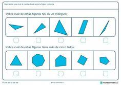 Ficha de triángulos para 1º de primaria