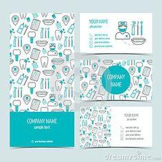 Sistema de aviador, de folleto y de las tarjetas de visita para la clínica dental Sistema de productos promocionales Diseño plano