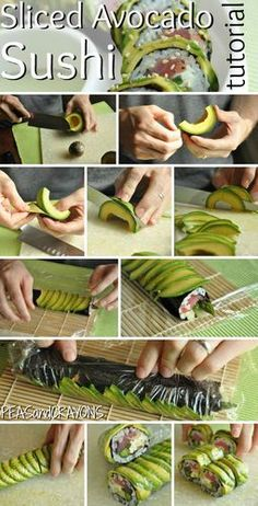 maki con avocado #maki avocado