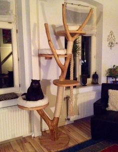 Kratzbaum Mehr You are in the right place about yarn Cat Toys Here we offer you the most beautiful p Cat Habitat, Grand Chat, Cat Gym, Cat Tree House, Diy Cat Tree, Cat Shelves, Cat Playground, Cat Climbing, Cat Condo